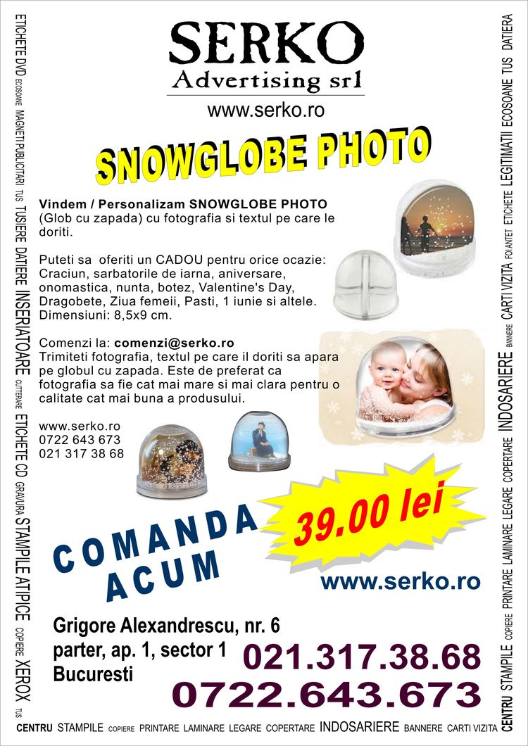 Personalizare SNOWGLOBE PHOTO
