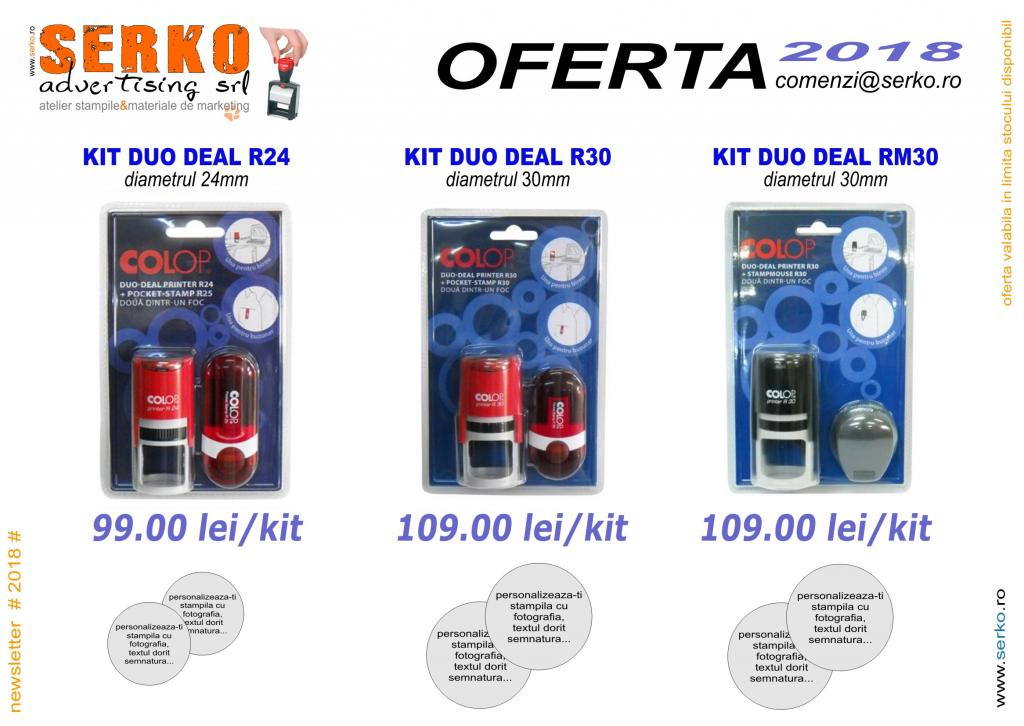 oferta speciala stampile duo deal