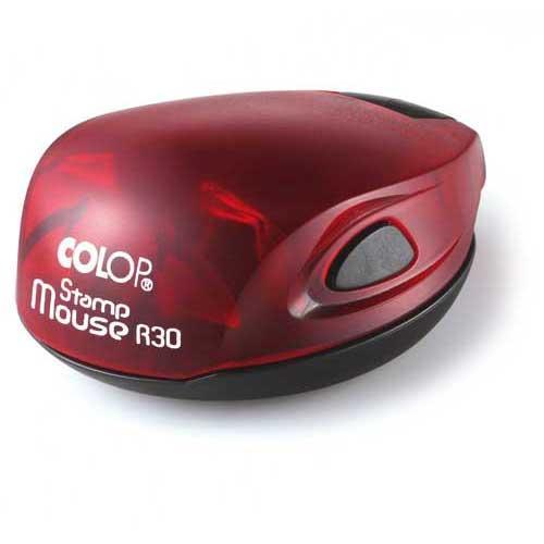 Stampila rotunda de firma de buzunar diametrul 30mm pe suport automat colop Mouse R30 - 0722643673