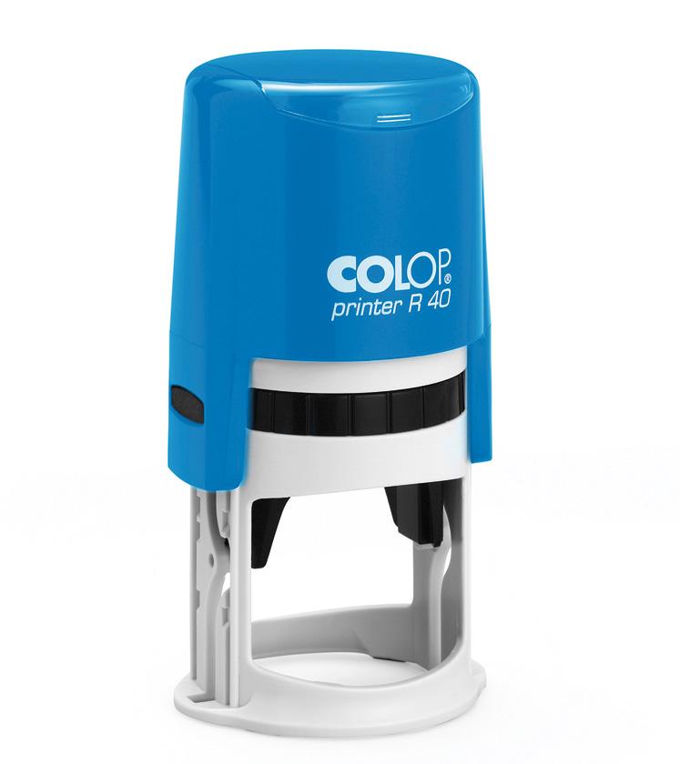Stampila rotunda de firma diametrul 40mm pe suport automat colop R40 - 0722643673