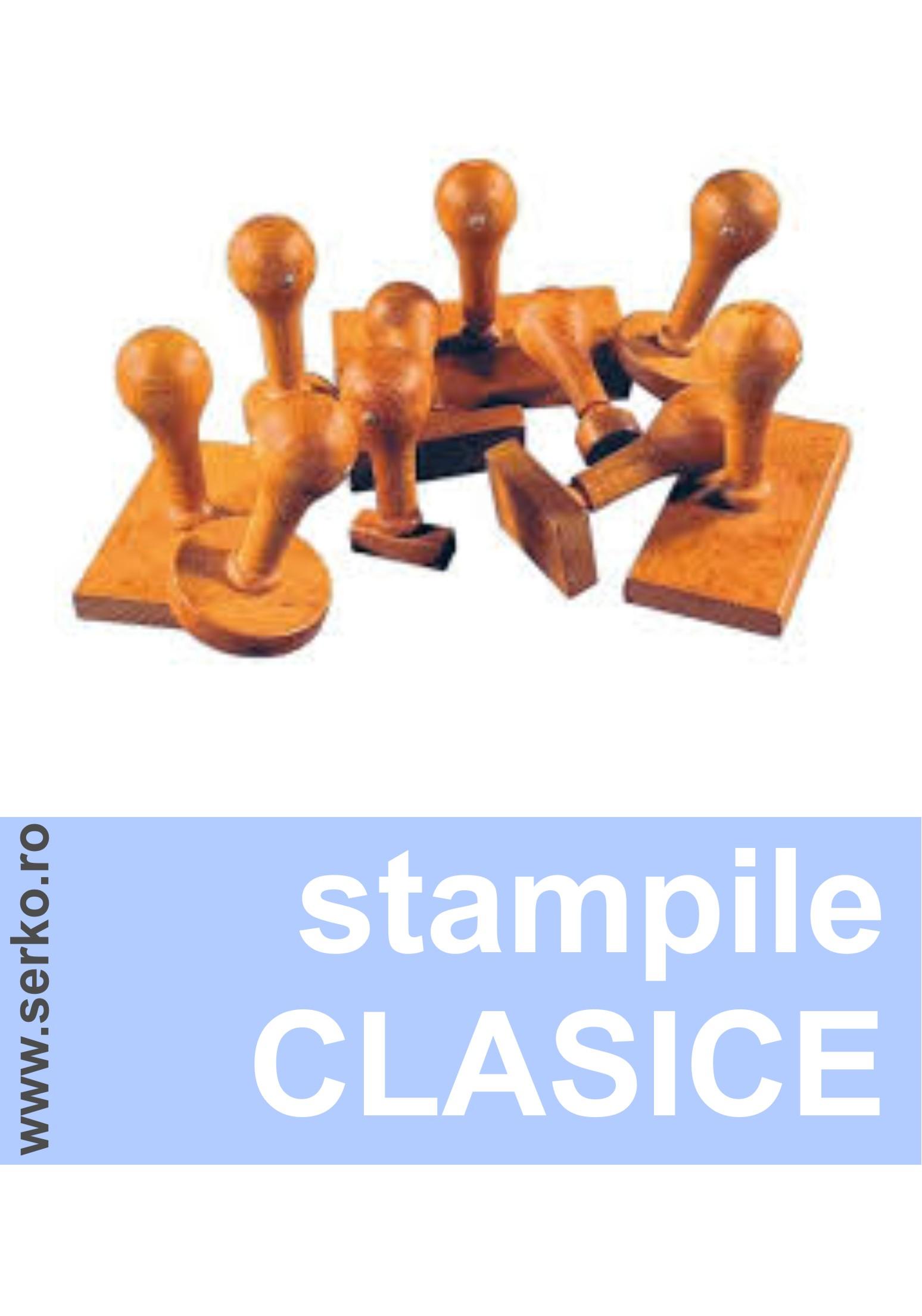 stampila clasica lemn