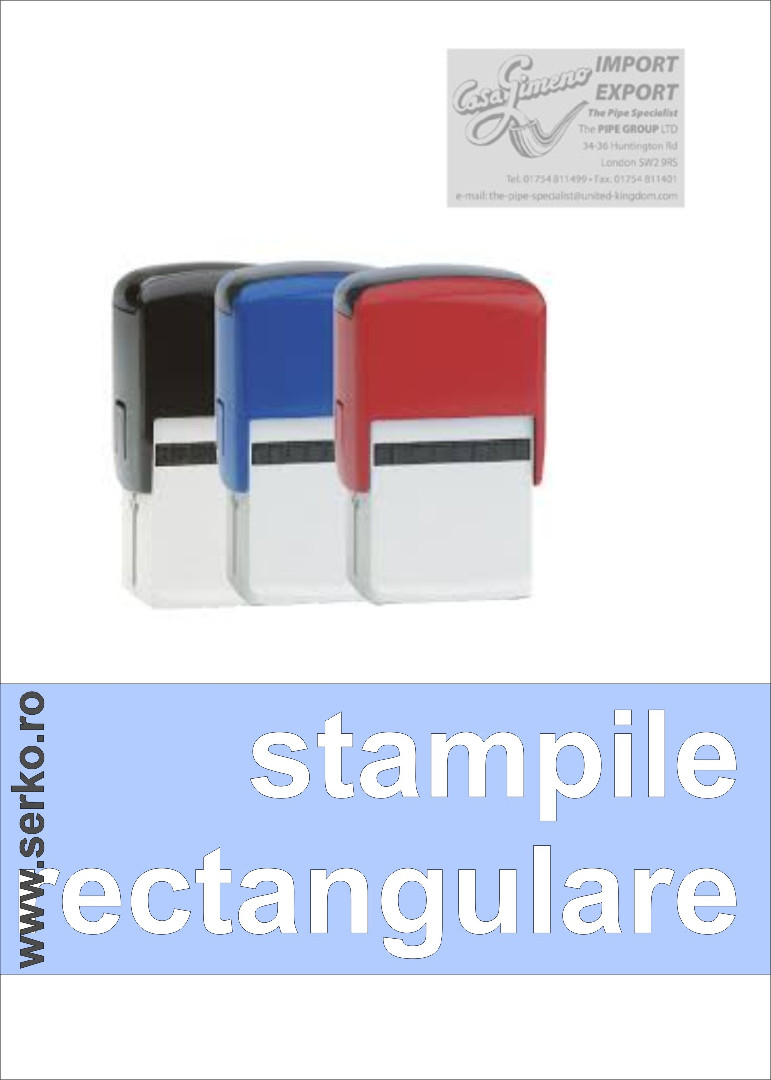 STAMPILE RECTANGULARE